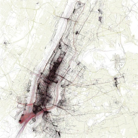 Voorbeeld: The Geotaggers' World Atlas #1: New York | Datavisualisatie | Scoop.it