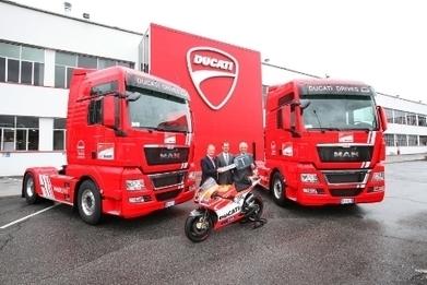 Seven New Man TGX Tractors For Ducati Corse MotoGP Team | Ductalk Ducati News | Scoop.it