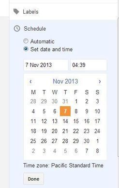 How to Schedule a Blog Post on Blogspot to publish a post Automatically | Facebook | Scoop.it