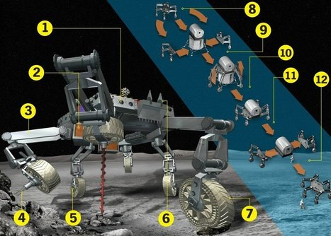 Meet ATHLETE, NASA's Next Robot Moon Walker | FutureChronicles | Scoop.it