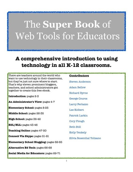 Super Book of Web Tools for Educators | elearning | Scoop.it