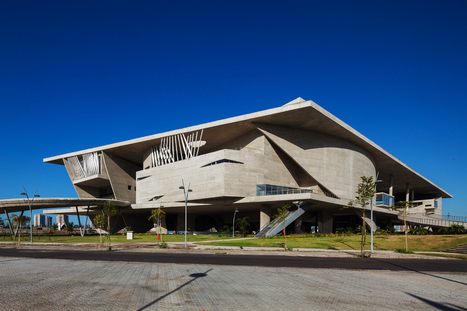 "[Rio de Janeiro, Brasil] Cidade das Artes: Christian de Portzamparc completed in Rio de Janeiro a ""CITY for ARTS"" contained in a big structure raised and established on a vast terrace ten meters ab... 