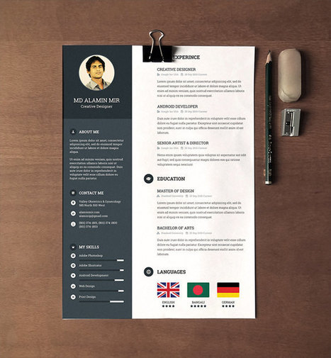30 Free & Beautiful Resume Templates To Download   Tout pour le WEB2.0   Scoop.it