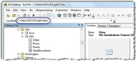 Data storage and retrieval in ArcGIS | GEOG 485: GIS Programming and Automation | ArcPY - Python | Scoop.it