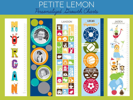 """Lines Across"": Petite Lemon Personalized Growth Charts (Plus a Giveaway) 