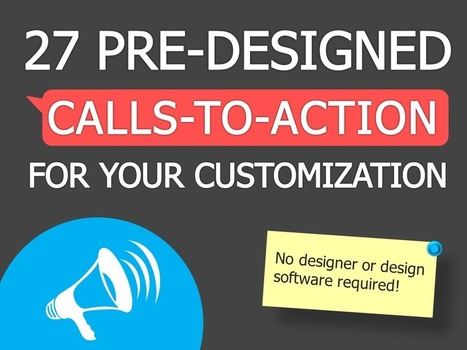 PowerPoint Template: 27 Pre-Designed Calls-to-Action for Your Customization | Nonprofit Communications | Scoop.it