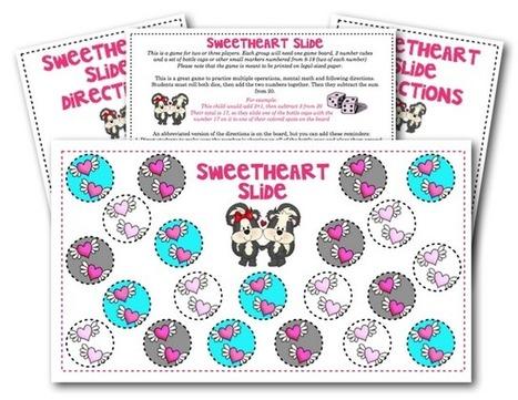 Sweetheart Slide for Subtraction Game | Seasonal Freebies for Teachers | Scoop.it