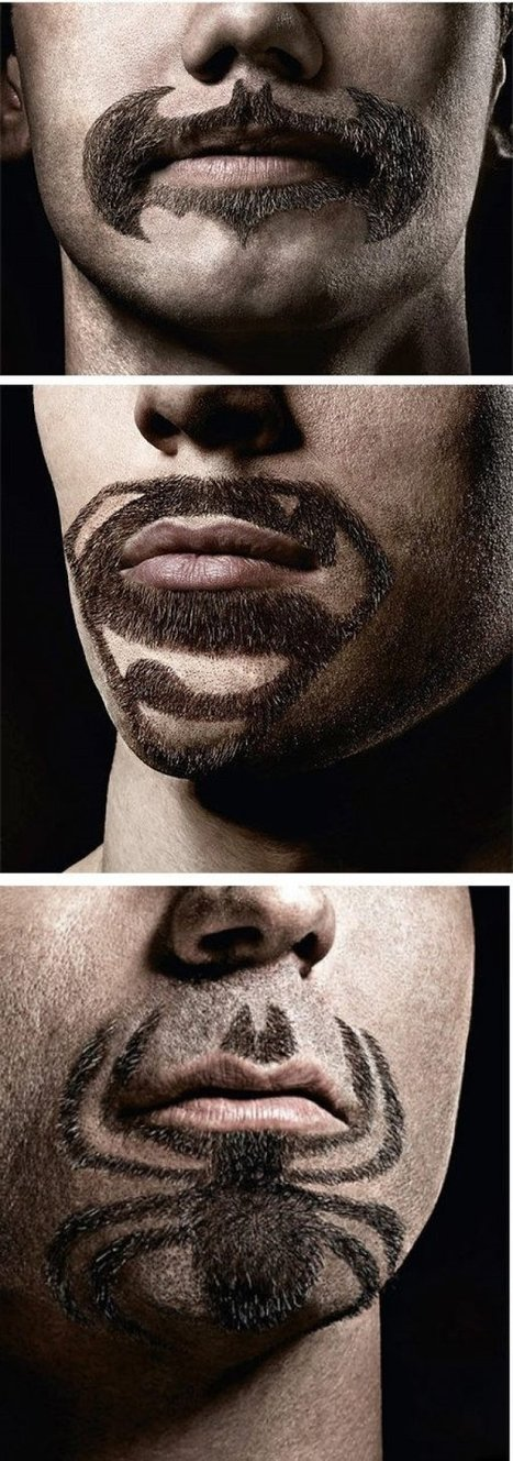 Superhero Beards/Mustaches | All Geeks | Scoop.it