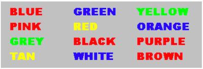 Stroop Test, of hoe kleur en tekst je brein beïnvloeden | BlokBoek e-zine | Scoop.it