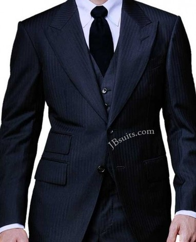 Spctr Navy Herringbone Three Piece Suit | Special Celebrity Costume Deals | Scoop.it