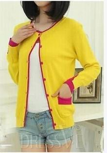 Color Block Single Breasted Knit Cardigan | Fashion Zone | Scoop.it