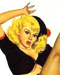 Pin-up art from The Pin-up Files - pin-up girl & glamour archive | Xposed | Scoop.it