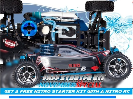 November Promo: Free Starter Kit with any Nitro RC | Amazing RC Store - Remote Control Fun & RC Racing | Scoop.it