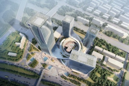 """""""Fangda Business Headquarters"""" Winning Entry / Huasen Architects 