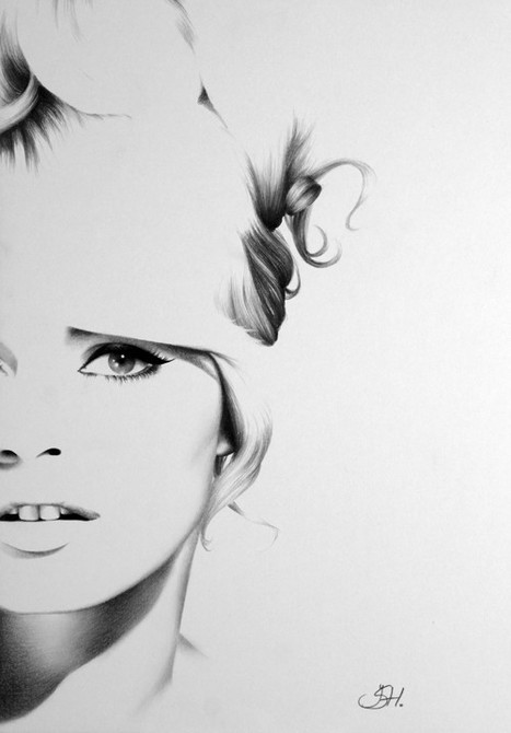 Brigitte Bardot  Pencil Drawing Fine Art PortraitPrint Hand Signed by Artist | My Journey (Art) | Scoop.it