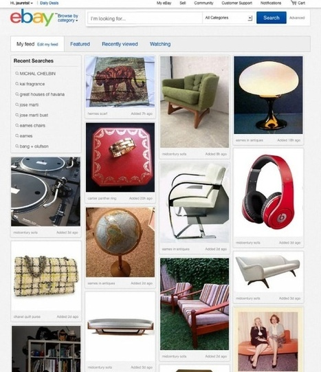 eBay, une refonte de son site à la Pinterest, pour accompagner son ... | Actu - ergonomie et parcours  web | Scoop.it