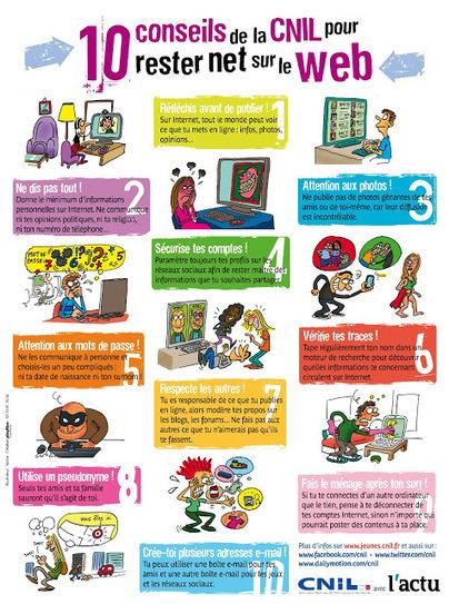 TICs en FLE: Fiche : 10 conseils pour rester net sur le web | EOI | Scoop.it