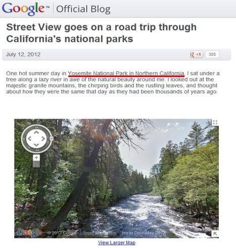 Google Street View fait un voyage au travers du Parc National Yosemite (USA) | Geeks | Scoop.it