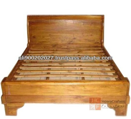 Sleigh bed Teak Bedroom Furniture - Balinese Style - Solid Teak Wood Furniture Indonesia, View Teak Beds, Teak Sleighbed Product Details from CV. JEPARA CRAFTER FURNITURE on Alibaba.com | Teak wood furniture | Scoop.it