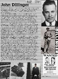 John Dillinger- Tragic Story | Publish with Glogster! | Crime In The 1930'S Presentation Transcript | Scoop.it