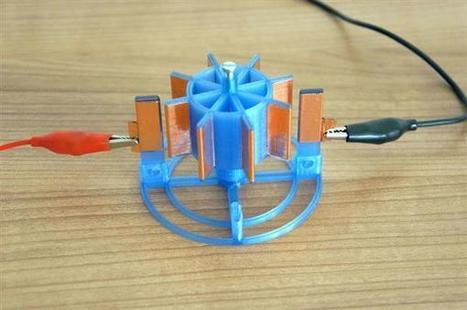 Create your own electrostatic motor using a 3D printer | MakerED | MakerSpaces | Transformational Teaching and Technology | Scoop.it