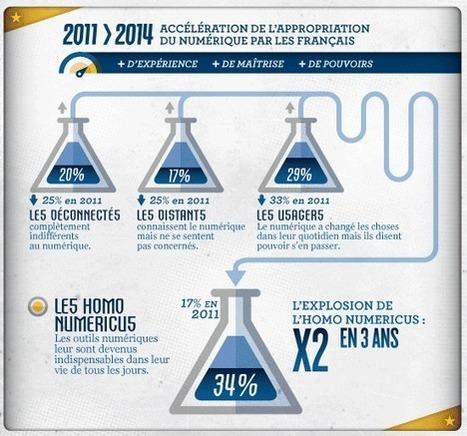 REGARDS SUR LE NUMERIQUE   Baromètre Inria 2014 : les Français à la conquête du numérique   Connecté au quotidien   Scoop.it