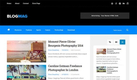 Blogmag Clean & Responsive Blogger Template | Blogger Templates | Scoop.it