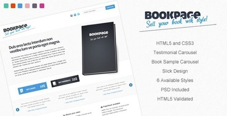 BookPage - Template to Sell Your Books with Style | FreeBloggingTricks | Web Designs 2014 | Scoop.it