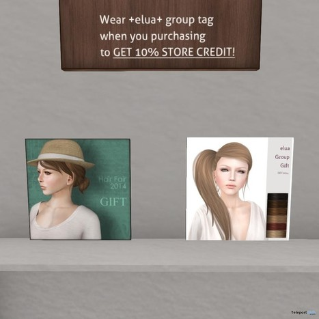Kei and Beth Hair Group Gift by elua | Teleport Hub - Second Life Freebies | Second Life Freebies | Scoop.it