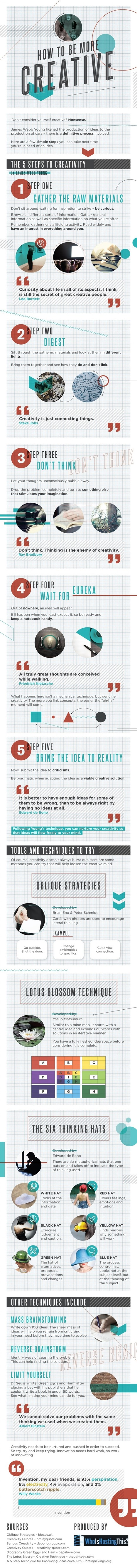 How to Be More Creative [Infographic]   WhoIsHostingThis   #TheMarketingAutomationAlert   Social Media Marketing Tips and Tools   Scoop.it