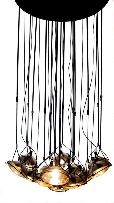 Head Light Chandelier | 1001 Creative ideas ! | Scoop.it