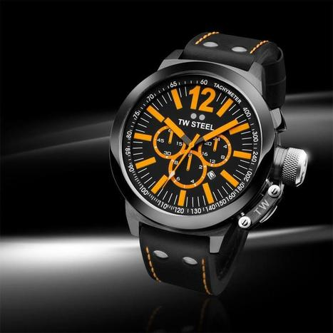 Black with a touch of orange! Our CEO Canteen CE1029 | 45mm | CE1030 | 50mm | TW Steel Watches | Scoop.it