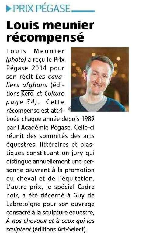 Cheval Pratique - Louis Meunier lauréat du prix Pégase   Louis Meunier   Scoop.it