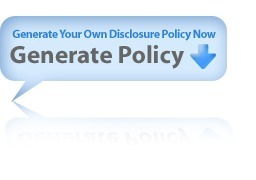 DisclosurePolicy.org: Disclosure Policy, Disclosure Policy Generator | Online Tools | Scoop.it