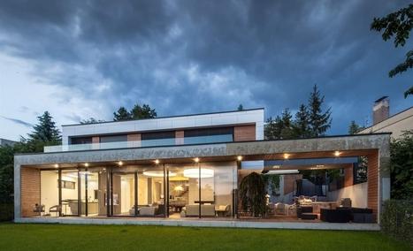 Postavili si rodinný dom na svahu. S obývačkou na terase a čiernou kuchyňou | Domácnosť a bývanie | Scoop.it