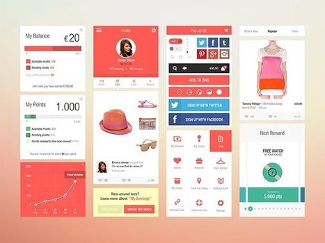Flat Ui Kit for iOS Fashion App | random | Scoop.it