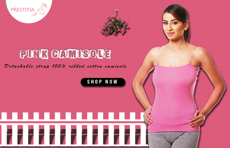 Detachable strap 100% ribbed cotton camisole | buy nightwear online india | Scoop.it