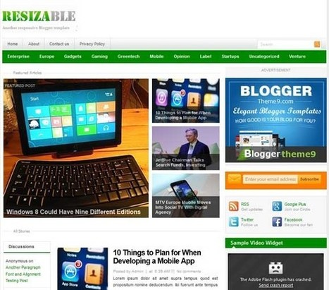 Resizable Blogger Template | Design Cart | Blogger Templates | Scoop.it