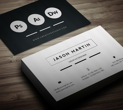 New Modern Style Corporate Business Cards | MarketingHits | Scoop.it