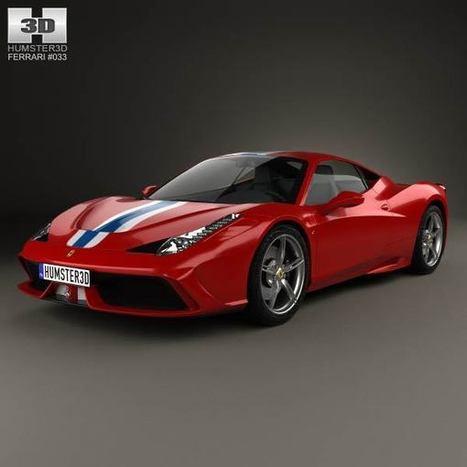 3D model of Ferrari 458 Speciale 2013   3D models   Scoop.it