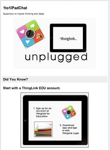 7 Questions to Inspire Thinking and Ideas: ThingLink App & Google Docs Form | Instructional Technology | Scoop.it