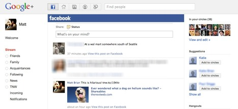 Add your Facebook stream to Google+ with this browser extension   SOCIAL MEDIA, what we think about!   Scoop.it
