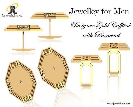 Buy James Simple Gold Cufflinks | Diamond Jewellery India | Scoop.it