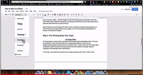 Two Easy Ways to Create A Table of Content in Google Docs ~ Educational Technology and Mobile Learning | TEFL & Ed Tech | Scoop.it