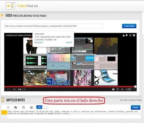 VideNotes. Tomar notas cuando ves un vídeo   Educación 2.0   Scoop.it