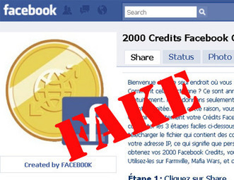 Attention, de fausses pages vous promettent des Facebook Credits | Social Media Curation par Mon Habitat Web | Scoop.it