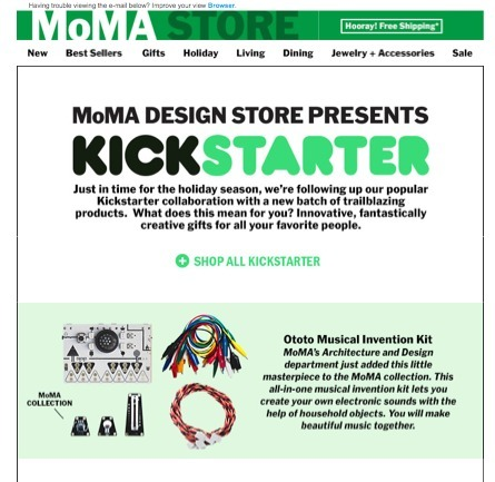 STEAL THIS MoMA Kickstarter Store Idea Because Crowdfunding = Where BUZZ Lives | Startup Revolution | Scoop.it