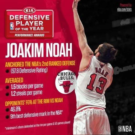 Chicago Bulls´ Joakim Noah named Defensive Player of the Year | NBA | Scoop.it