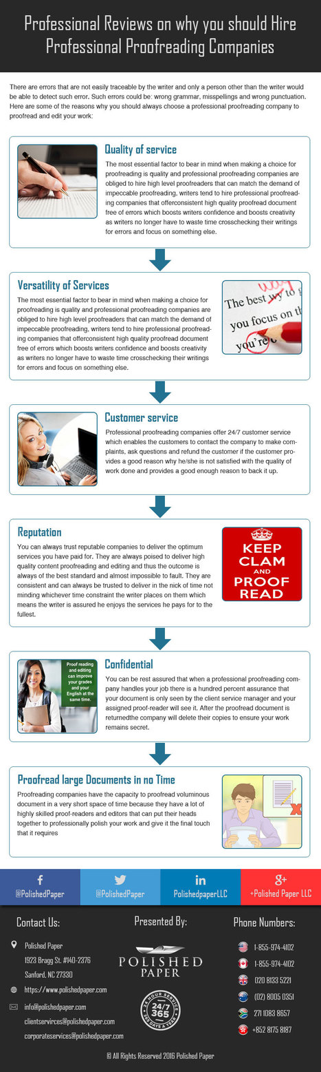 Professional reviews on why you should hire professional proofreading companies | Academic Editing Service | Scoop.it