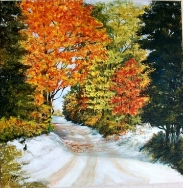 Artwork: Early Snow - Open House Art | Art - Crafts - Design | Scoop.it